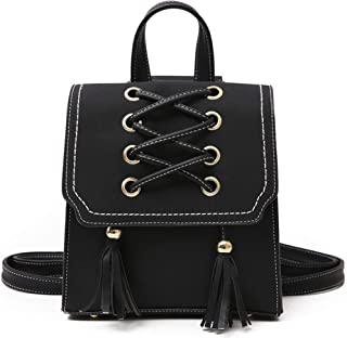 Fashion Women Leather backpack/Shoulder Bag/Hand Bag/Purse/Satchel Daily Work School Bags Casual Travel Daypacks for Girls - Black