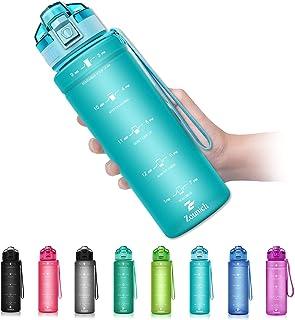 comprar comparacion ZOUNICH Botella Agua Deporte, Botella Agua Niños sin BPA Reutilizable Plástico Tritan - 500 ml / 700 ml / 1 l / 1.2 l, Can...