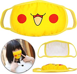 COOLINKO Anime Face Mask - Reusable Washable Anti Dust Cotton Mouth Protector - Cartoon Fashion Cosplay Muffle