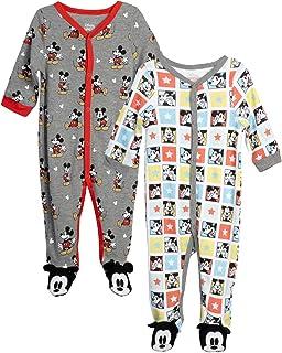Disney Baby Boys' Mickey & Friends 2 Pack Sleep N' Play Footed Coverall (Newborn)