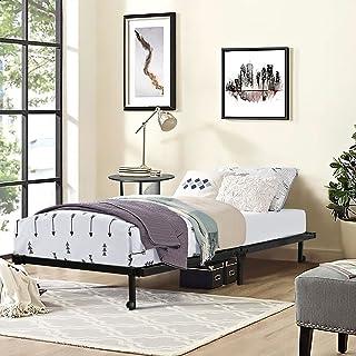 HOMEMEKE Furniture Cama Individual Plegable Ahorra Espacio Almacenamiento Conveniente Metal de Alta Calidad Fácil de Insta...