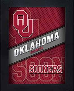 Oklahoma Sooners 3D Poster Wall Art Decor Framed Print | 14.5x18.5 | OU Lenticular Posters & Pictures | Gifts for Guys & Girls College Dorm Room | NCAA Sports Team Fan Boomer Sooner Logo & Mascot
