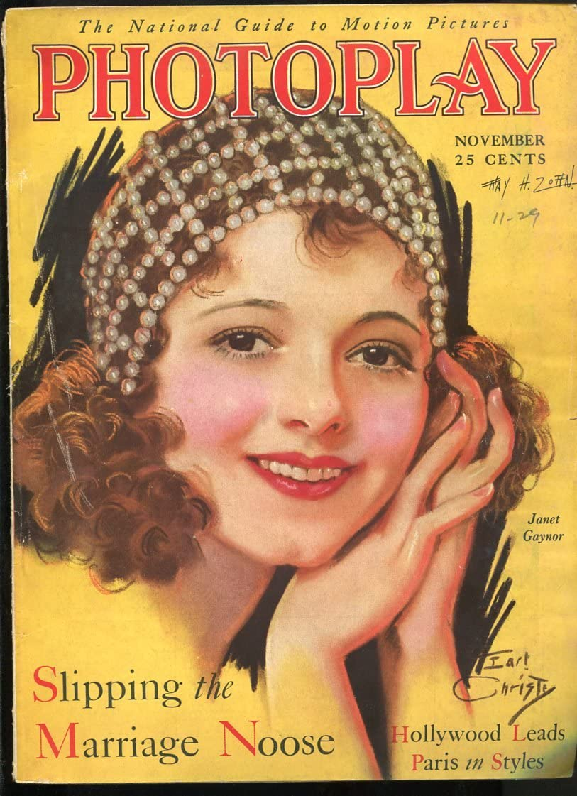 PHOTOPLAY Sep 1929-EARL CHRISTY Max Ranking TOP13 54% OFF ART-GRETA GARBO-COLLEEN MO COVER
