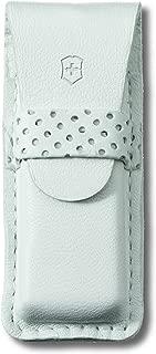 Victorinox Coltello da Tasca con Caso in Pelle, Bianco