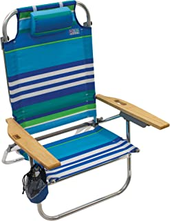 Rio Beach Hi-Boy Folding 5 Position Lay Flat Beach Chair
