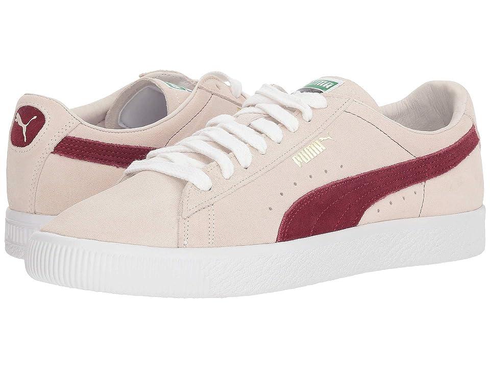 PUMA Suede 90681 (Whisper White/Pomegranate) Men