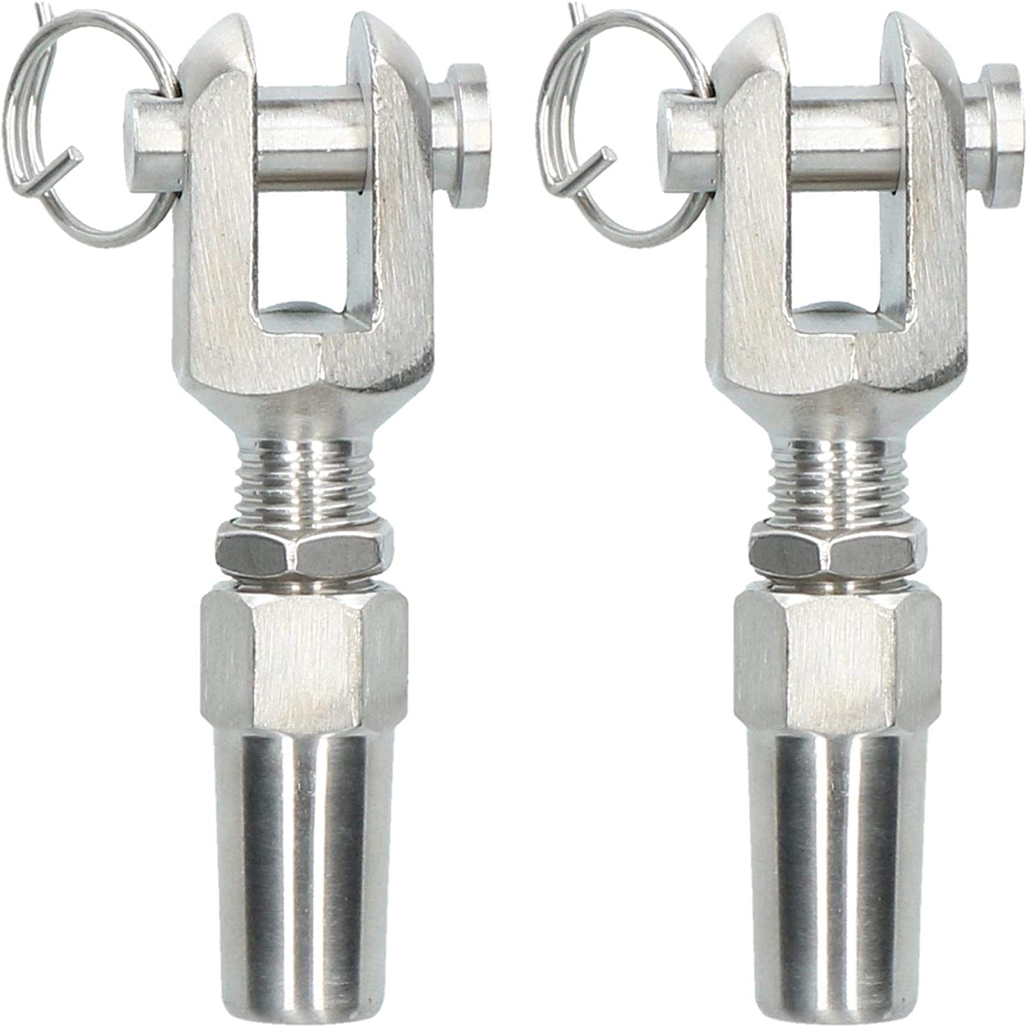 4mm Wire Cable Rope Jaw Rigging Swageless Diy Fitting Stainless 2 Pk