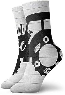 tyui7, Tractor de dibujos animados Calcetines de compresión antideslizantes Cosy Athletic 30cm Crew Calcetines para hombres, mujeres, niños