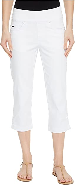 D-Lux Denim Pull-On Capris in White