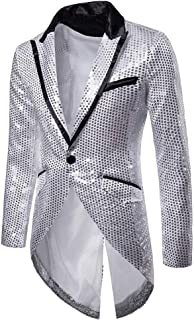Fashion Charm Casual One Button Fit Suit Blazer Coat Jacket Party Tuxedo Men