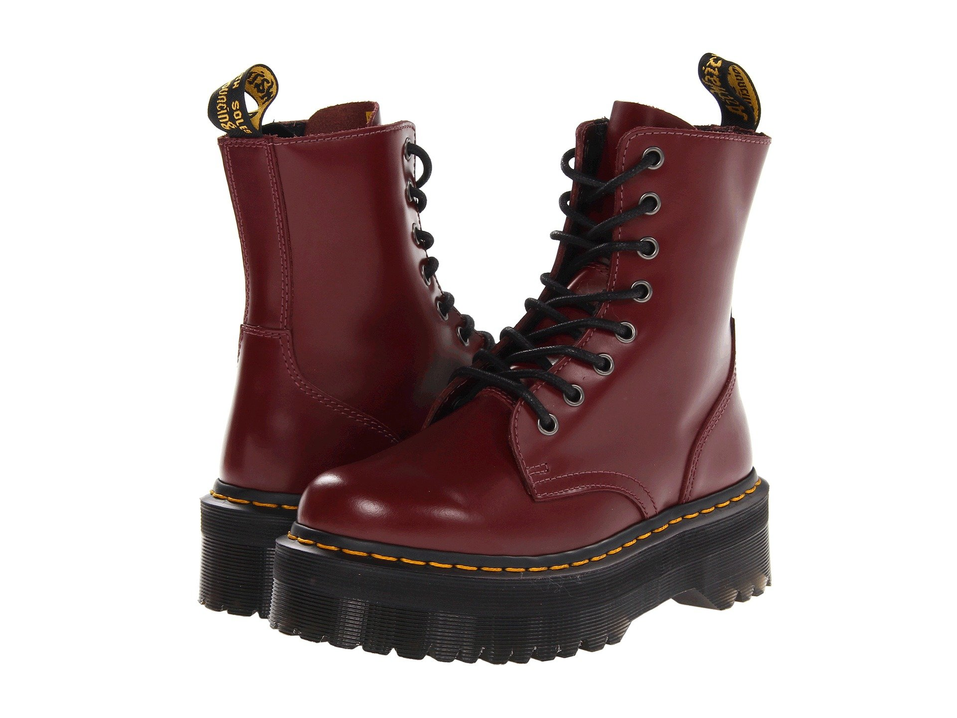 ffb35ecfc71 Jadon 8-Eye Boot, Cherry Red Polished Smooth