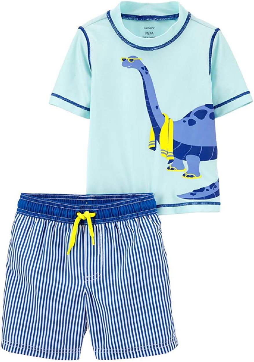 Carter's Dinosaur Rash Guard Top Swim Set 24 Months B Trunks Inventory cleanup selling Max 60% OFF sale
