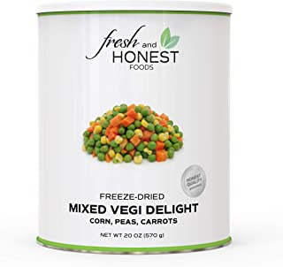Fresh and Honest Foods 100% All Natural Freeze Dried Mixed Vegi II (Peas, Corn, Carrots) 20.1 OZ #10 Can