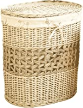YAYADU Storage Basket Rattan Baskets Oval Finishing Box Store Toy Pillow Clothes For Home School Hotel Restaurant (Color :...