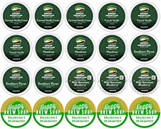 20-count GREEN MOUNTAIN FLAVORED COFFEE Variety Sampler Pack, Single-Serve Cups for Keurig-Compatible Brewers