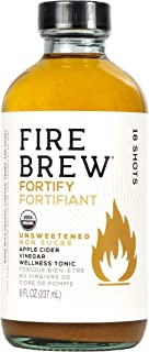 Sponsored Ad - Fire Brew | Fortify - Unsweetened | Vegan | Apple Cider Vinegar Fire Cider Tonic | 8oz | 16 Shots | Canadia...