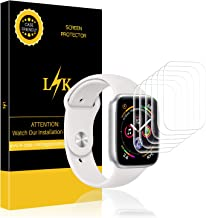 LK [6 Pack] Screen Protector for Apple Watch 44mm Series 4 / Series 5, [Bubble-Free] HD Clear Flexible film with Lifetime Replacement Warranty