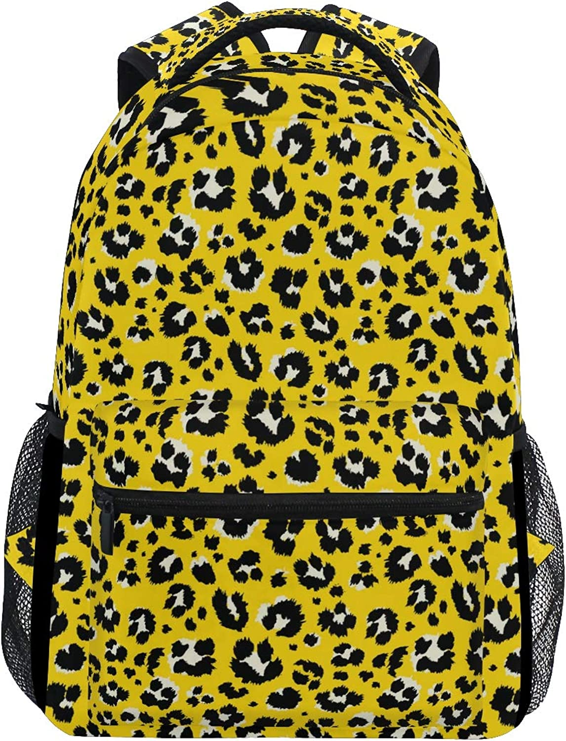 Fashion Noble Leopard Print Pattern Large Backpack Travel Outdoor Sports Laptop Backpack for Women & Men College School Water Resistant