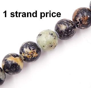 مالاهيل خرزات الحجر الطبيعي لصنع المجوهرات DIY الخرز للأساور القلائد 1 جديلة سوداء تركواز 8 مم