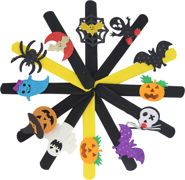 LIEKUMM 12PCS Max 67% OFF Halloween Slap Bracelet New Free Shipping Devil Pumpkin Prin Spider