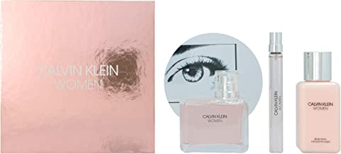 Calvin Klein Woman Eau De Parfum Gift set - EDP 100ml, Body Lotion, EDP Pen Spray 10ml