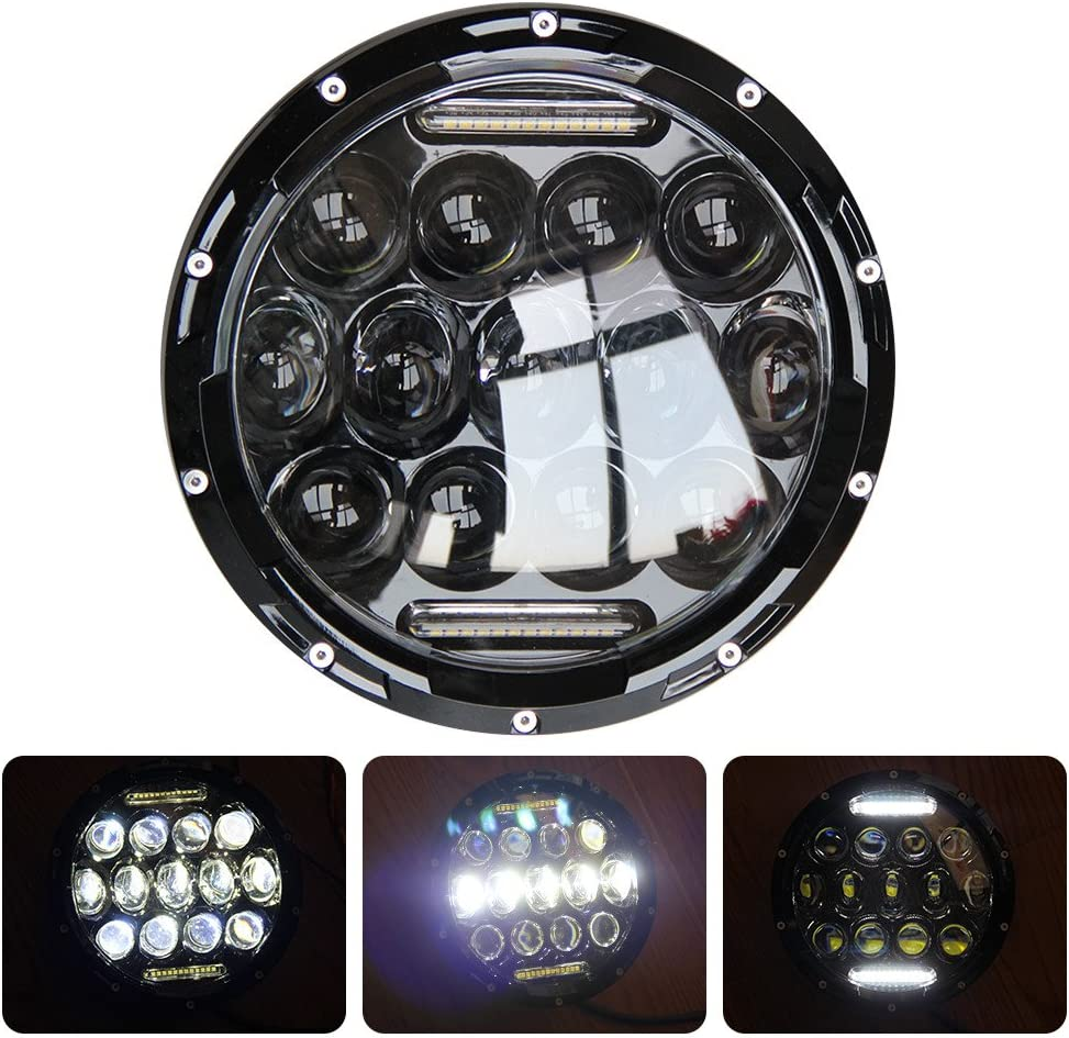 2 Recommendation Black Bezel Military M35 M35A2 LED Pair Cheap super special price M35A3 Head Light Deuce