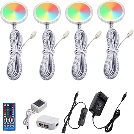 Aiboo RGB Couleur Changeante DEL Sous Armoire éclairage Kit 6 pack Ultra RVB
