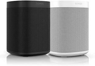 Sonos One (Gen 2) Two Room Set Voice Controlled Smart Speaker with Amazon Alexa Built in (2-Pack Black/White)