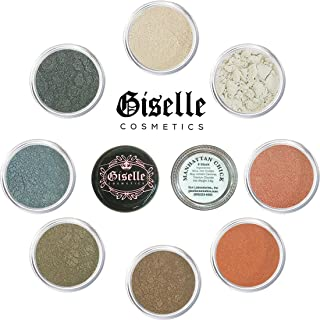 Eye Shadow - Mineral Makeup Eyeshadow Powder, Foundation, Concealer, Blush, and Contouring Palette | Pure, Non-Diluted Shimmer Mineral Make Up in 8 Manhattan Hues and Shades | For All Skin