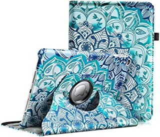 iPad 9.7 inch 2018 2017 / iPad Air Case - 360 Degree Rotating Stand Multi-Reviewing Protective Cover with Auto Sleep Wake for Apple iPad 9.7