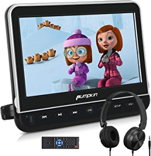 PUMPKIN 10.1 Inch Car Headrest DVD Player with Headphone, Support HDMI Input, 1080P Video, AV in Out, Region Free, USB SD, Last Memory, Mounting Brackets Included
