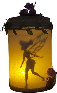 Lanterna decorativa a led, che simula di aver catturato Tinkerbell, prodotto artigianale.