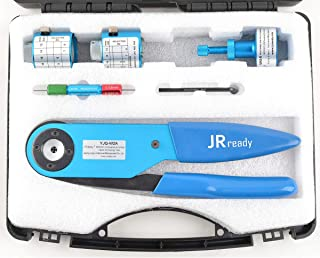 JRready ST1024 Crimper Tool Kit,M22520/1-01 Solid Contacts Crimper YJQ-W2A/AF8 with M22520/1 Series Positioners TH1A/TH163/UH2-5 for 12-26 AWG Wire of Electrical Connectors Contacts