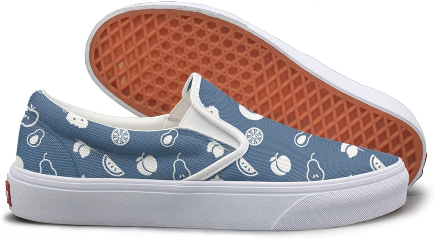 SEERTED All Fruit Nutrition Womens Casual Sneakers Slip On