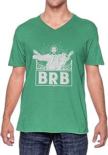 BRB - Be Right Back Jesus Has Risen Funny Unisex V-Neck T-Shirt
