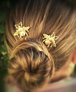 FXmimior Bridal Honeybee Bobby Pins Wedding Party Hair Pins Hair Accessories pack of 3 (gold)