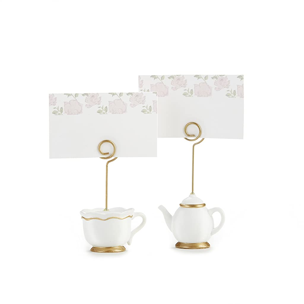 Kate Aspen, Place Card Holders, Tea Time Whimsy, Teapot and Teacup, Place Cards Included, Set of 6