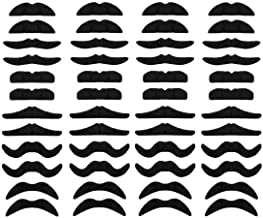 LuckyStar365 48 pcs Novelty Fake Mustaches, Mustache Party Supplies, Self Adhesive Mustaches for Masquerade Party & Perfor...