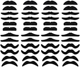 LuckyStar365 48 pcs Novelty Fake Mustaches, Mustache Party Supplies, Self Adhesive Mustaches for Masquerade Party & Performance