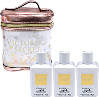 Victoria's Secret Bombshell Nights Lotion & Train Case Gift Set 4 Piece Combo
