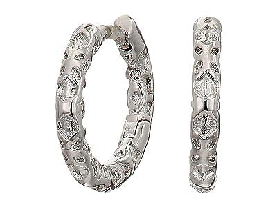 Kendra Scott Maggie Huggie Earrings (Rhodium Filigree Metal) Earring