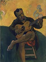 Oil Painting 'The Guitar Player Paul Gauguin ' Printing On Polyster Canvas , 10 X 14 Inch / 25 X 34 Cm ,the Best Laundry Room Gallery Art And Home Artwork And Gifts Is This Beautiful Art Decorative Canvas Prints