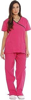 Just Love - Conjuntos de trajes médicos para mujer (cuello cruzado)