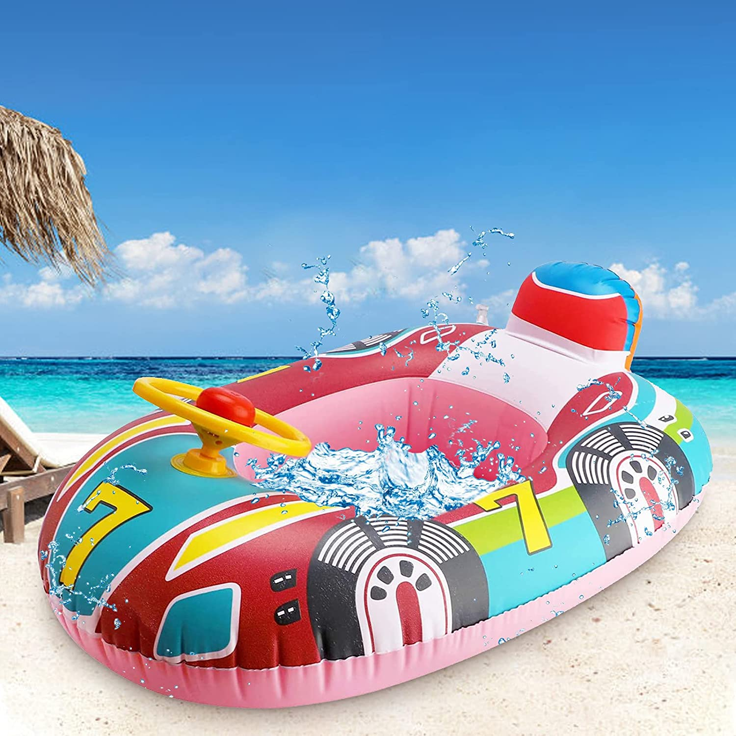 New Omaha Mall York Mall Toddler Pool Floats Inflatable Kids Ring Water with Handl Float