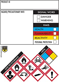 Safety Data Sheet Stickers/MSDS Stickers, 3