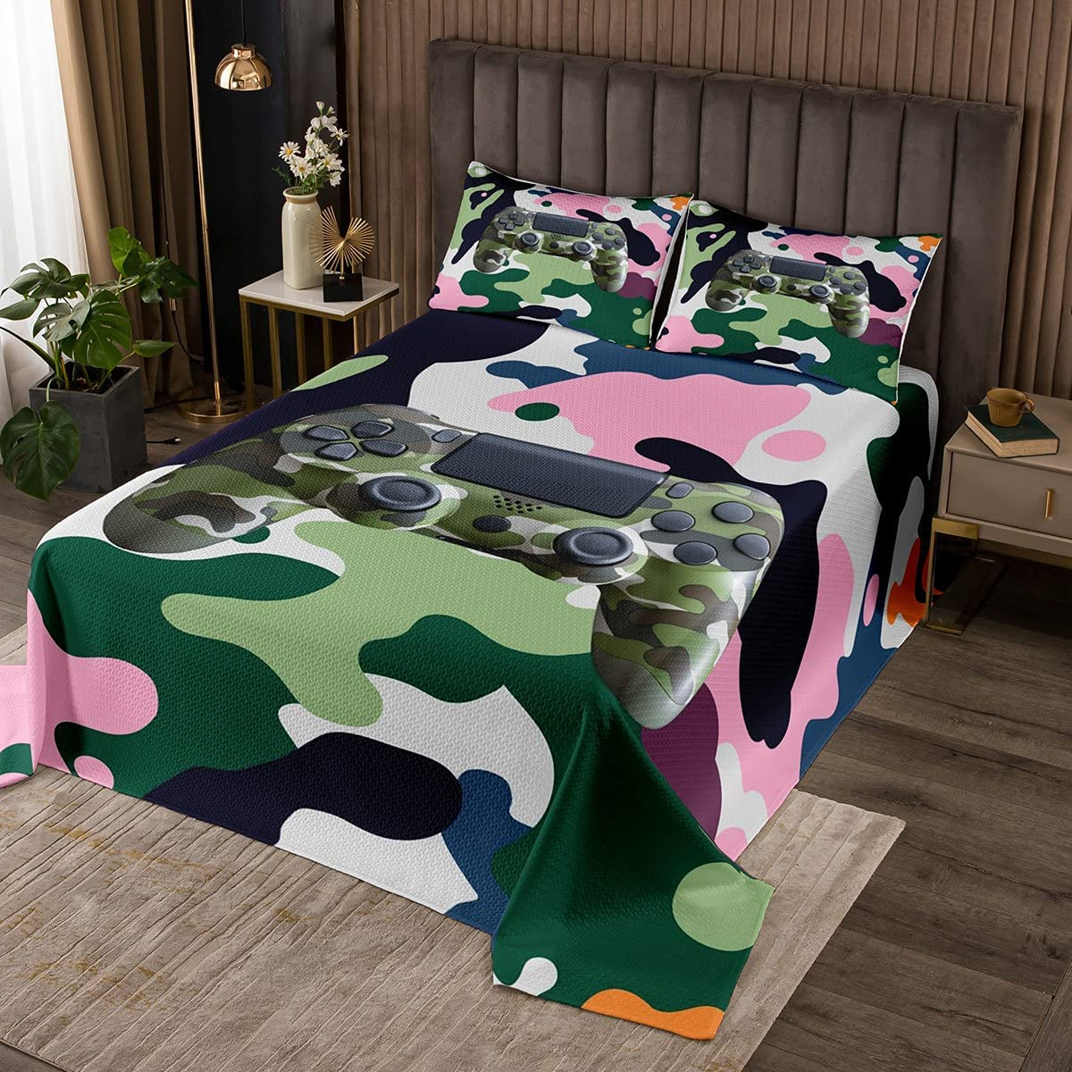 Erosebridal Army Ranking TOP16 Camouflage Gaming Bedspread Boys King Special Campaign for Kids
