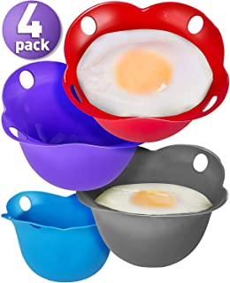 Silicone Egg Poaching Cups – Poaches Eggs To Perfection Without the Stress or Mess..