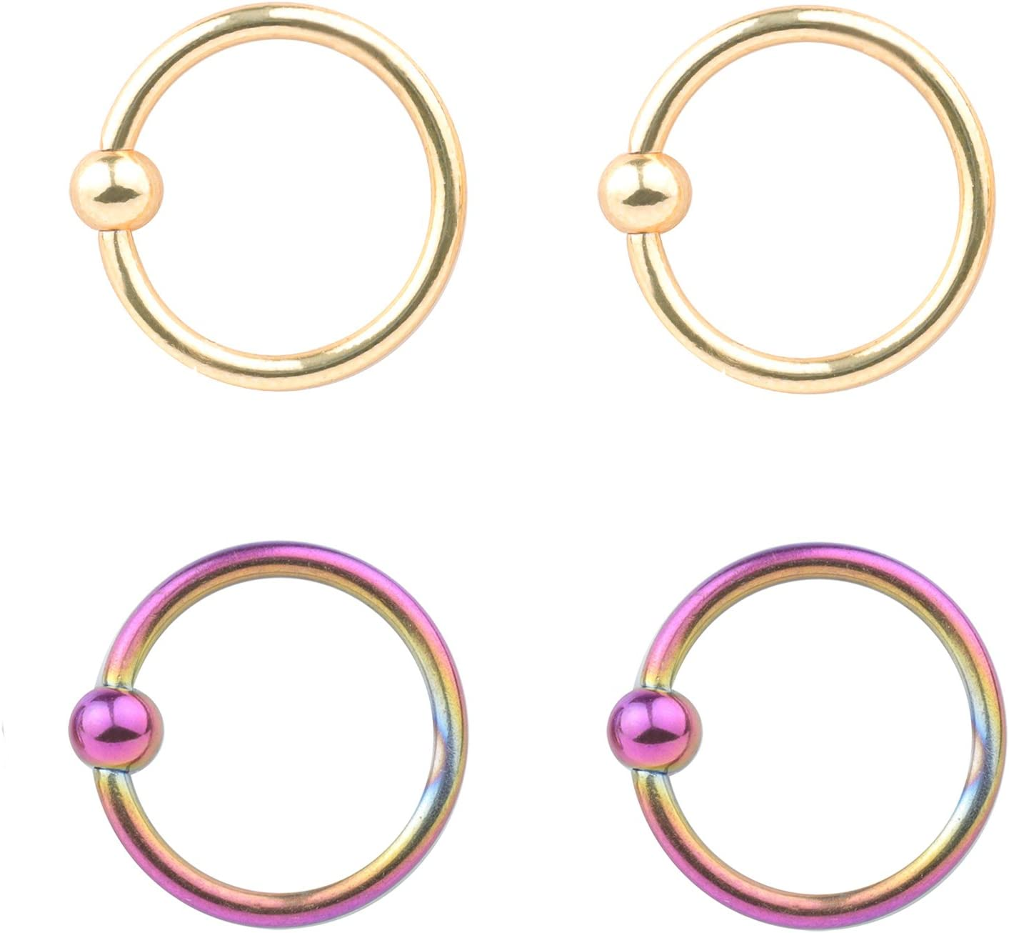 Chicago Mall feiyan86 Surgical Steel 16G 4-8pcs Nose Hoop Horseshoe Don't miss the campaign Septum Ea