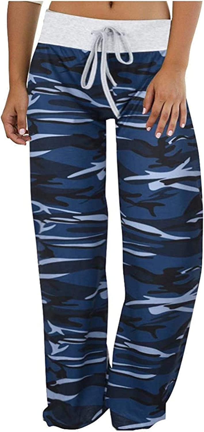 RAXYQ Womens Sweatpants Plus Fort Worth Mall Size Camouflage Pants Printe Courier shipping free Lounge