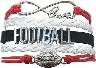 HHHbeauty Football Bracelet Jewelry - Football Charm Bracelet Youth Football Bracelets Women,Men,Girls,Boys,Teen Including...